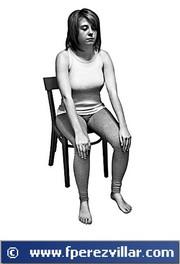 Auto - Reiki en las rodillas.